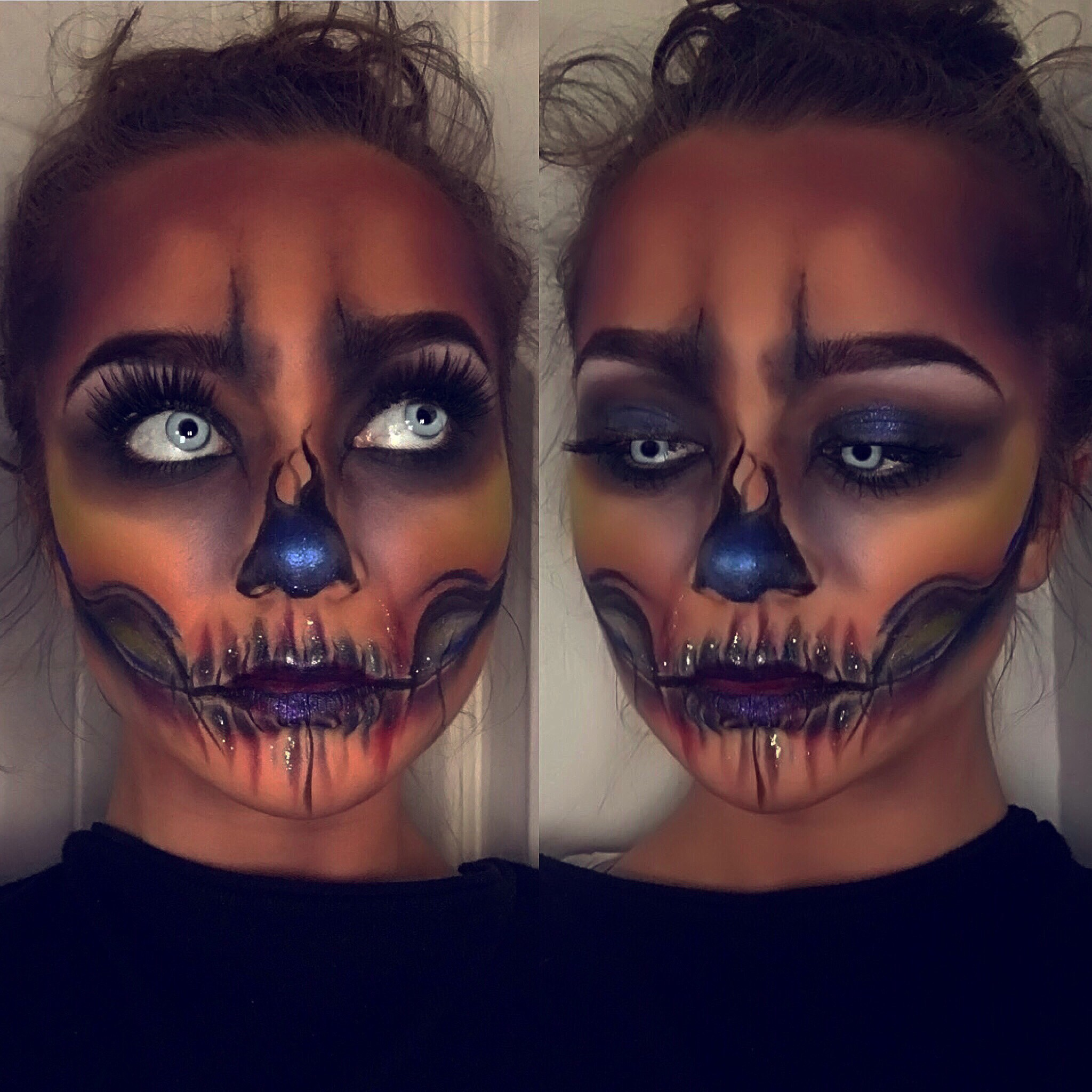 Skeleton, Halloween, makeup, cosmetics